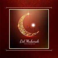 Abstrakter eleganter stilvoller Eid Mubarak-Hintergrund