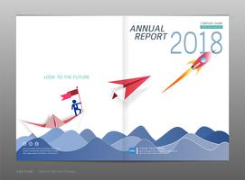 Cover design annual report, Leadership and startup concept.