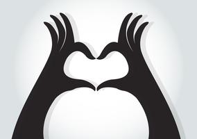 hands make a heart symbol vector