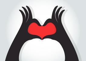 Hände machen ein Herzsymbol
