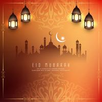 Abstract Eid Mubarak festival greeting background