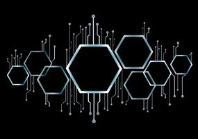 abstract bee hive , hexagon and technology line background vector