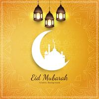 Abstract elegant Eid Mubarak decorative background
