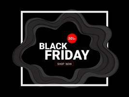 Black Friday sale inscription design template.