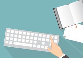 Fondo de vector de escritorio de oficina