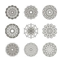 Collection de mandalas simples