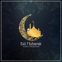Abstract Eid Mubarak Islamic background