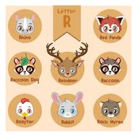Animal collection with letter r