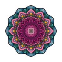 Mandala colorida linda 6