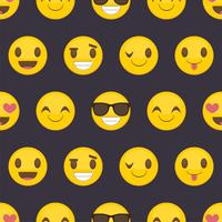 Seamless pattern background with positive happy smileys vector