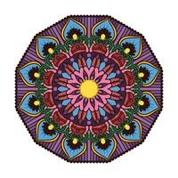 Mandala colorida linda 4