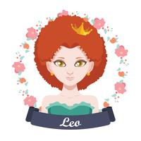 Zodiac sign illustration - Leo