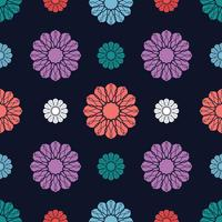 Flower motif seamless background