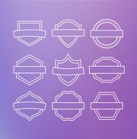 Linear  emblems vector