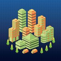 Viviendas urbanas, vector