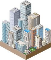 High-rise home vector