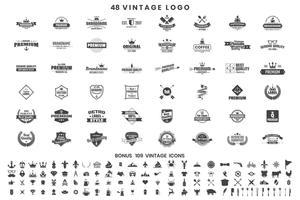 Vintage Retro Vector Logo för banner