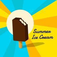 Fond de crème glacée d'été