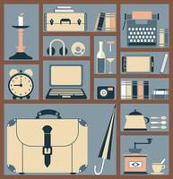 Household Items in Flat Style