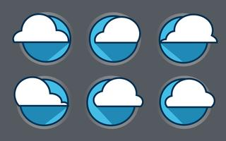 Cloud icon vector ,  vector illustration. Flat design style