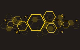 the shape of hexagon concept design abstract technology background