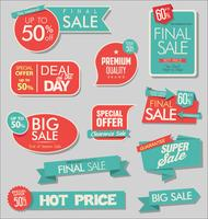 Sale banner and special offer tags collection vector