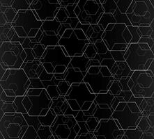 Linea esagono astratto e sfondo di arte dello spazio