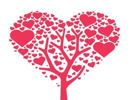 träd av hjärta, kärlek träd symbol vektor