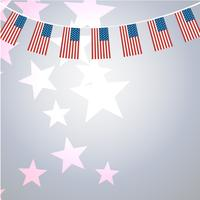 American banners template vector design