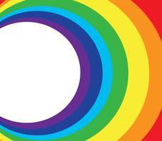 espacio y arco iris círculo de fondo
