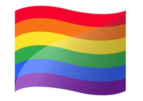rainbow flag LGBT symbol  vector