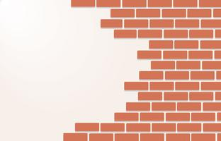 Wall of bricks background art vector
