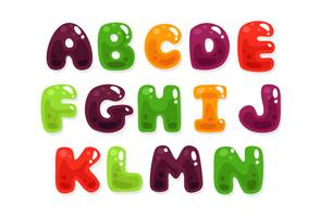 Colorful jelly alphabets for kids part 2