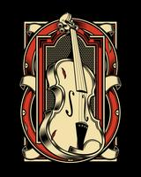 viola Musical Instrument String.vector hand drawing