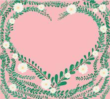 heart shape in green pastel leafs Coat buttons , Mexican daisy background