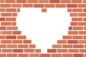 Wall of bricks and space background art vector