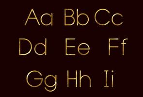 Golden fashion font part 1