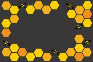 hexagon bee hive design art and space background