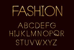 Golden fashion font