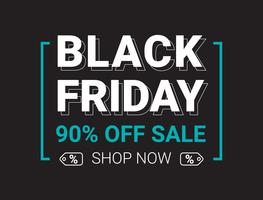 Black friday sale banner layout design template, Flat style vector illustration artwork.