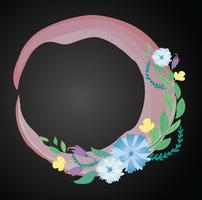pastel flower crown and space background vector