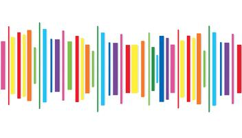 rainbow line abstract art background vector