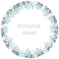 Botanical circle background/frame with text space.