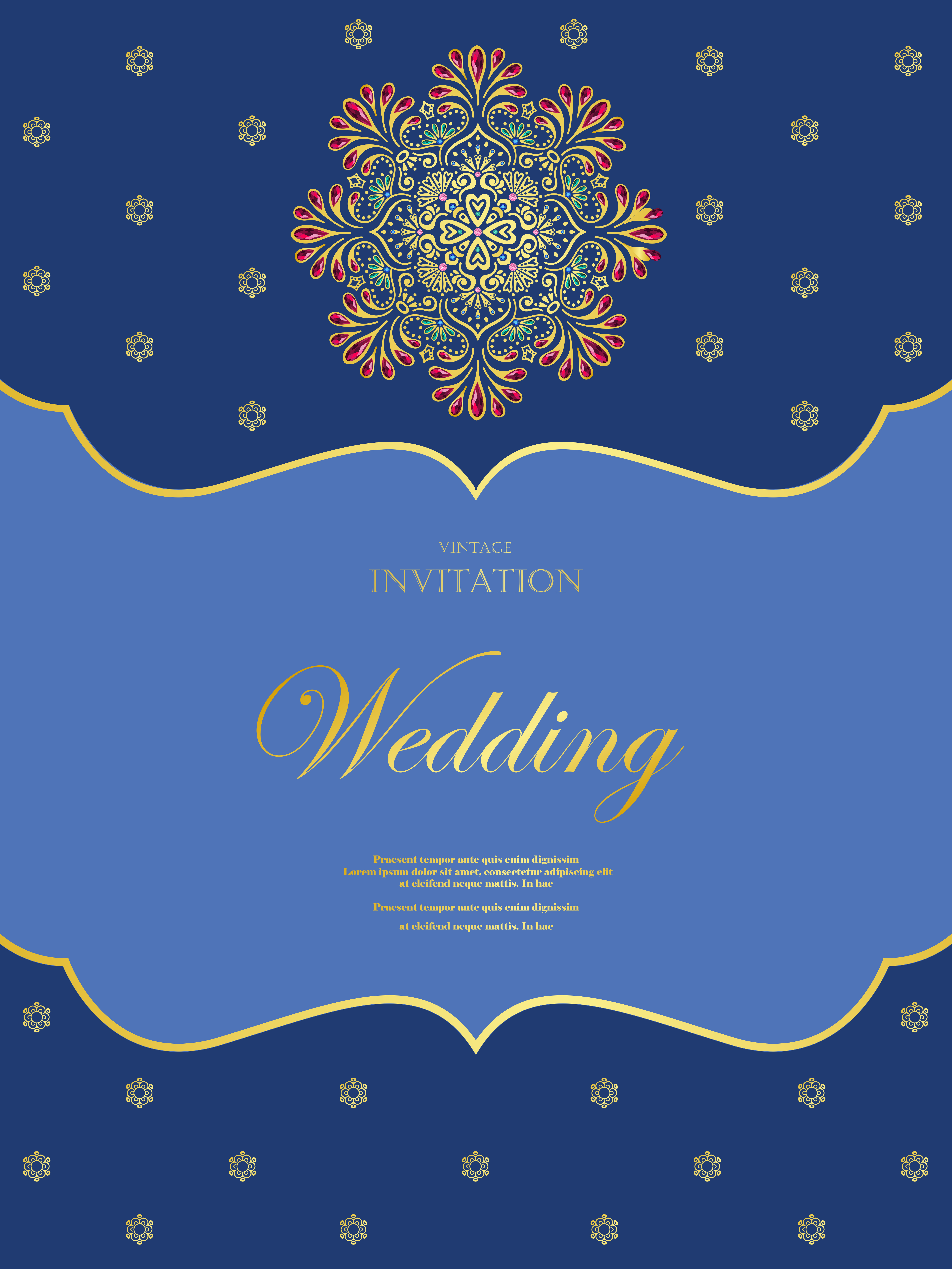 Wedding Or Invitation Card Vintage Style With Crystals Abstarct Pattern Background Vector Element Eps10 Illustration Indian Islam Wedding Invitation Download Free Vectors Clipart Graphics Vector Art