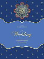 Wedding or invitation card  vintage style  with  crystals  abstarct pattern background  ,vector element eps10 illustration,indian,islam,wedding,invitation