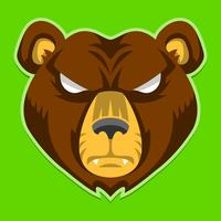 Bear Angry Face cartoon