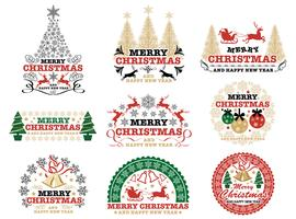 Christmas badge/label, vector design element.