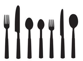 vecteur d'outils de dîner