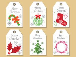 Set di tag di Natale assortiti.