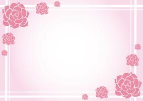 lovely flower pastel background vector